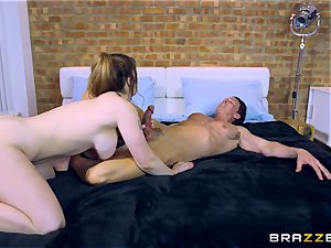 Lucia enjoy poking two men at different times