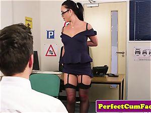 UK nurse draining in office before facial