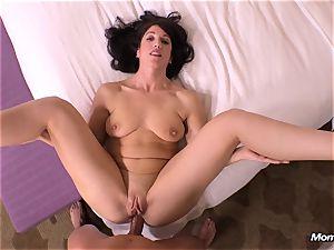 harmless black-haired milf hotwife internal ejaculation wish