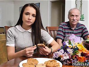 parent smacks and penetrates associate fucking partner s daughter-in-law railing the elder cock!