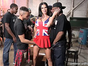 The crowd of blacks poking big-chested pornstar Jasmine Jae with ideal assets