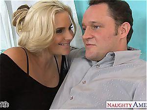 super-steamy wifey Phoenix Marie gets pinkish vulva drilled