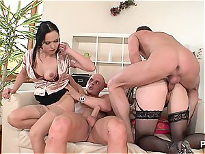 huge-titted femmes prepared for some double penetration fun