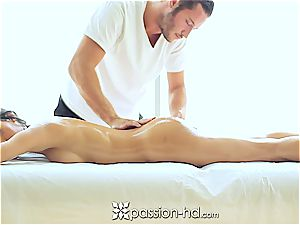 cool Latina Chloe Amour blows a load rigid after massage