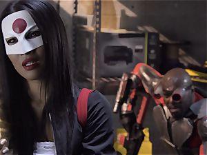 Suicide crew parody Sn 4 Ada Akira railing black wood