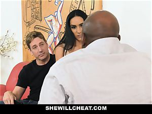 SheWillCheat - steamy wifey With phat Rack loves ebony meatpipe
