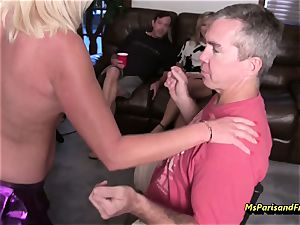 Ms Paris Rose is The birthday soiree Stripper
