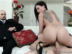 Exotic Swinger wife romps Another dude