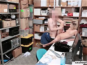 Shoplifter Emma Hix gets ravage in the office by LPs prick
