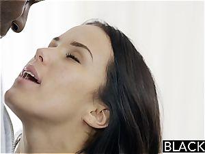 Megan Rain tearing up a black pecker