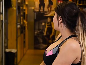 asian sweetheart London Keyes romps her man after a exercise