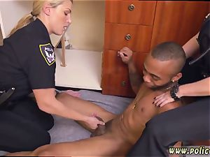 elder german mummy anal dark-hued male squatting in home gets our cougar officers squatting on