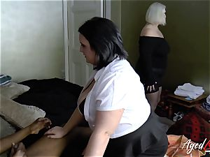 AgedLovE buxomy hotel Maid Lacey Starr threesome