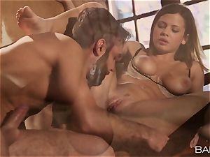 splendid Keisha Grey penetrates a meaty pole