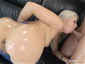 tough rectal with well-lubed up chick Anikka Albrite