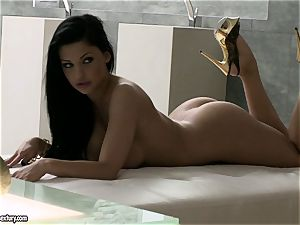 Aletta Ocean big-chested hoe licking her fingers