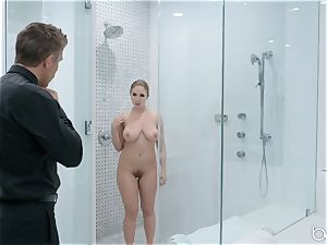 Lena Paul shower fuck with hunky German Mick Blue