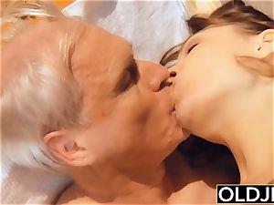 granddad nails vagina nubile gives finest oral pleasure ever