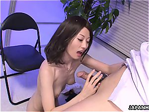 gross asian babe with her petite jugs breast pulverizes