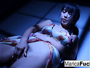japanese adult movie star Marica gets bare