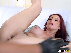 ginger-haired wifey Monique Alexander gets romped in front of her husband