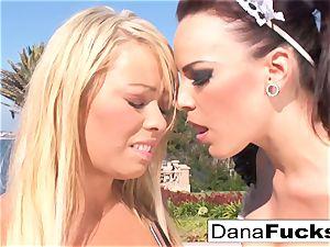 Dana the maid in a warm romp