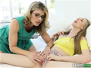 Cory gets caught frolicking with her stepmoms playthings