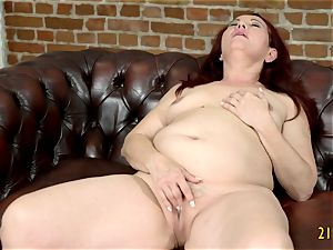old red-haired slut gets torn up from behind