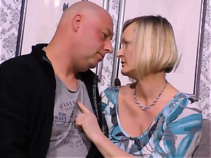 gonzo OMAS - dirty mature bang with newcummer German light-haired