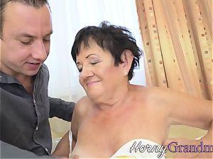 banged granny gets spunk