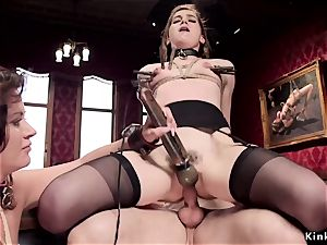 buxomy milf taught young maid humping