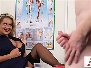 CFNM voyeur nurse training jerkoff