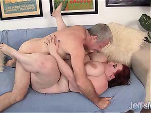 Breasty bbw Eliza Allure's cunt ravaged