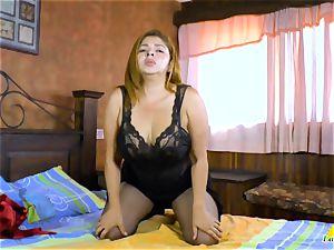 LatinChili big-boobed Mature Karina Solo getting off