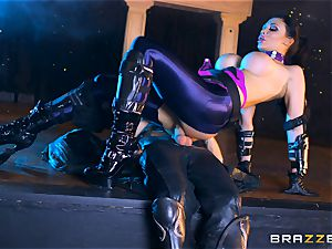 Aletta Ocean plunged with the monster meatpipe of Danny D