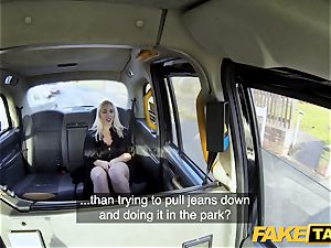 faux cab blonde cougar Victoria Summers fucked in a cab