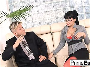 Aletta Ocean gets rectally nailed on the couch