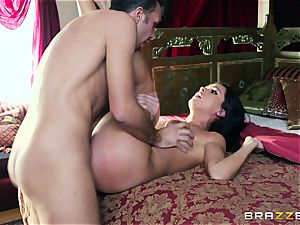Jealous mom Kianna Dior with yam-sized mounds porked by her sonny
