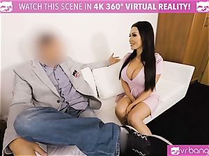 VR porn - Thanksgiving Dinner becomes a insatiable 3 way