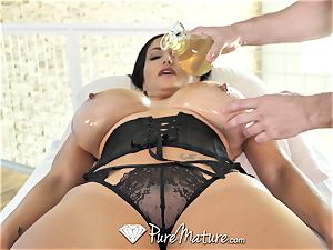 PureMature greased up massage fuck with milf Ava Addams