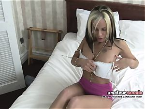 lean french Canadian babe homemade pornography thumbs cunt