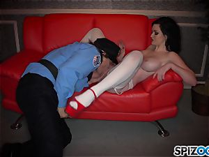 crazy brunette Kendall Karson plowed by policeman in the stripclub