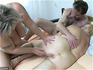 OldNanny granny and mature jacked furry vulva