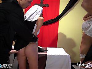 nasty nuns Jessica Jaymes and Nikki Benz pleasing gods dreams