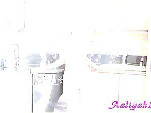 Rampant Aaliyah love displays off her large underpants
