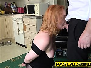 bdsm red-haired rides rod