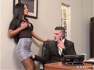 secretary Elicia Solis straddles the boss on his desk