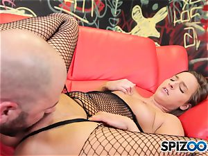 sizzling and wild Amirah Adara gets her super-steamy rump creamed on